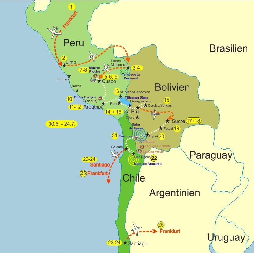 Peru Karte.Bolivien Peru Karte